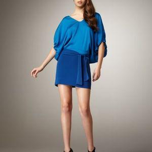 DVF Edna two-tone blue silk dress size 2
